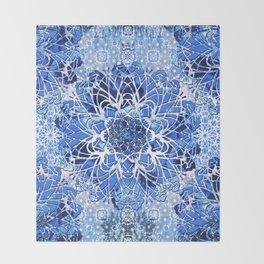 Sapphire Crochet Mandala Throw Blanket