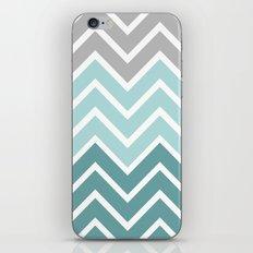 THIN BLUE FADE CHEVRON iPhone & iPod Skin
