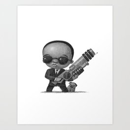 Lil Men In Black Art Print