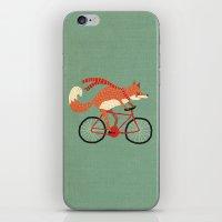 mr fox iPhone & iPod Skins featuring mr. fox by tesslucia
