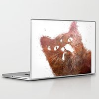 ginger Laptop & iPad Skins featuring Ginger cat by jbjart