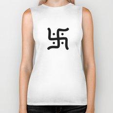 hindu symbol Biker Tank