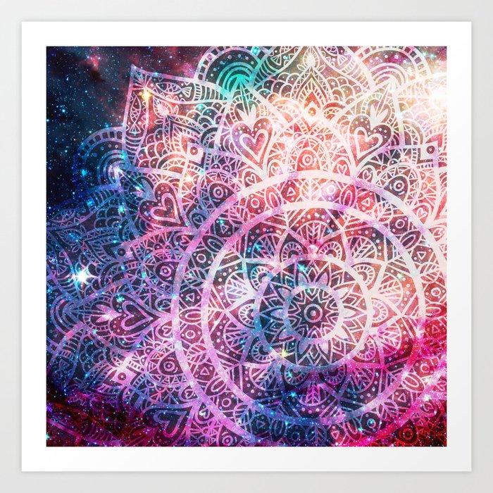 Space mandala 5 Art Print