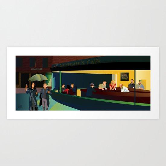 NIU Philosophy Nighthawks Art Print