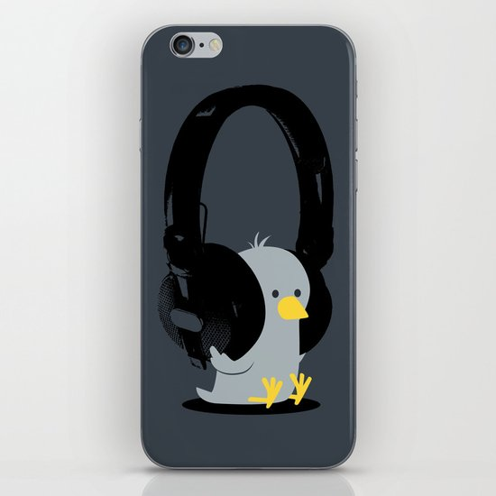 Le poussin mélomane iPhone & iPod Skin