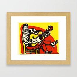 Flamenco Guitarist Lino Framed Art Print