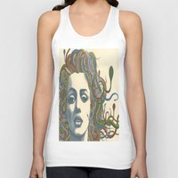 marylin monroe Tank Tops featuring Medusa Monroe  by Ty McKie Creations