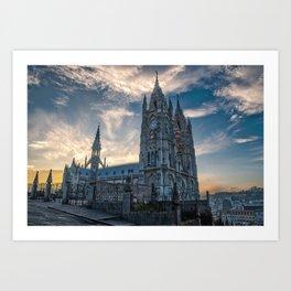 Basílica del Voto Nacional at Sunrise Art Print