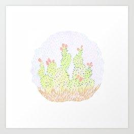 Prickly Cactus Art Print