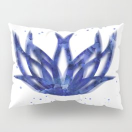 Lotus Blue Pillow Sham