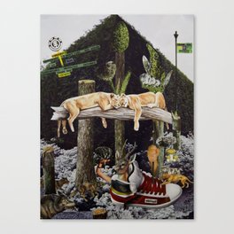 Elements of the Jungle Canvas Print