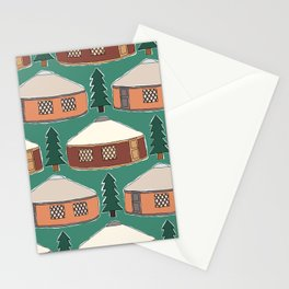 Cozy Yurts -n- Pines Stationery Cards