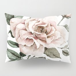 Faded Pink Rose Pillow Sham