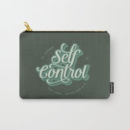 """Self Control: """"Be Strong in the Lord"""" Quote Carry-All Pouch"""