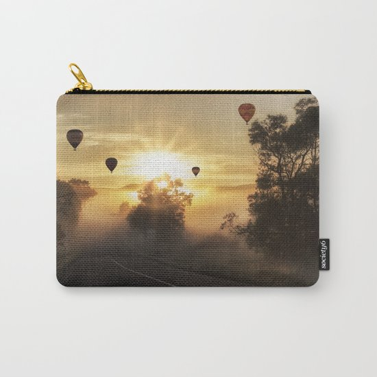 Hot Air Balloons on a Foggy Morning Carry-All Pouch