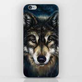 Artistic Wolf Face iPhone Skin