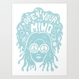 Open Your Mind in Mint Art Print