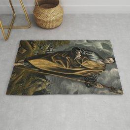 """El Greco (Domenikos Theotokopoulos) """"St. Judas Thaddaeus or St. Thomas"""" Rug"""