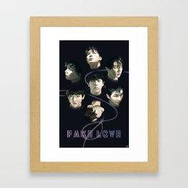 BTS Fake Love Framed Art Print