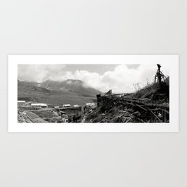 Independence Mine , Near Hatcher Pass AK (monochrome) Art Print