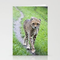 jaguar Stationery Cards featuring Jaguar by Veronika