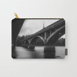 Sanctuary the Diestelhorst Bridge black and white Sacramento River Carry-All Pouch