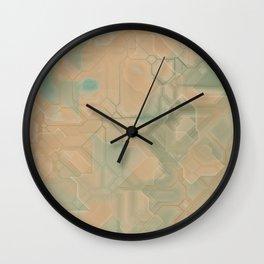 future fantasy steppe Wall Clock