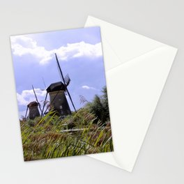 Two sisters at Kinderdijk Stationery Cards