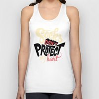 religious Tank Tops featuring Socks Don't Protect My Heart by Chris Piascik
