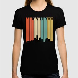 Retro 1970's Milwaukee Wisconsin Downtown Skyline T-shirt