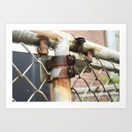 Rusty Chain Link Fence Art Print