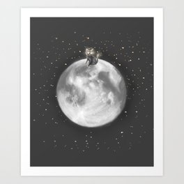 Lost in a Space / Moonelsh Art Print