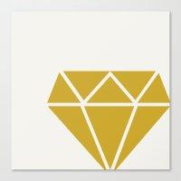 diamond Canvas Prints featuring DIAMOND by Allyson Johnson