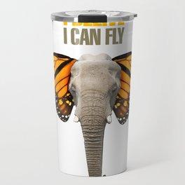 BUTTERFLY ELEPHANT Travel Mug