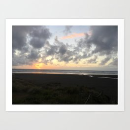 Sunset in Piha Art Print