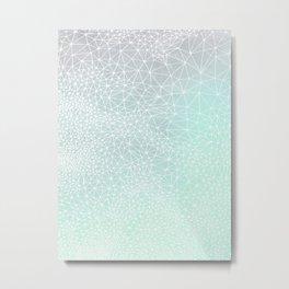 Organic Celestial Geometry on concrete and mint Metal Print