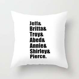 Community Study Group Throw Pillow