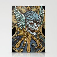 viking Stationery Cards featuring Viking by Spooky Dooky