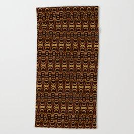 Dividers 07 in Orange Brown over Black Beach Towel