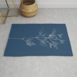Clematis Blueprint Rug