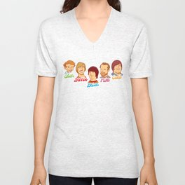 Alan & Dennis & Brian & Mike & Carl Unisex V-Neck