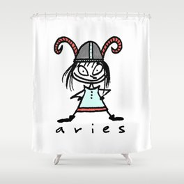 aries in the house(s)! Shower Curtain