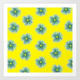 Geo Spring Flowers 02 Art Print