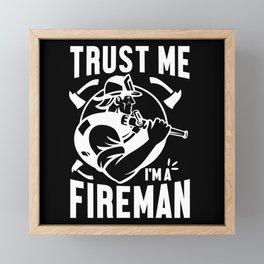 Firefighter Fire Department Fire Gift Framed Mini Art Print