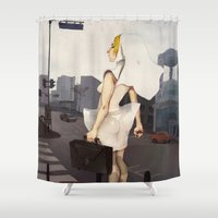 seoul Shower Curtains featuring Seoul tour  by MYLÈNE BRAGINA