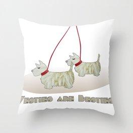 Westies are Besties 2 Throw Pillow