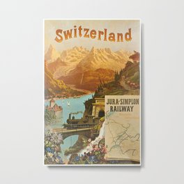Vintage poster - Switzerland Metal Print