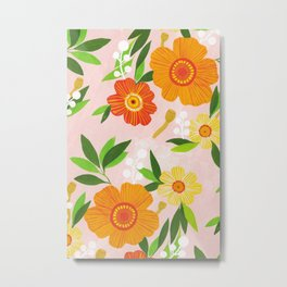 Happiest Flowers Metal Print