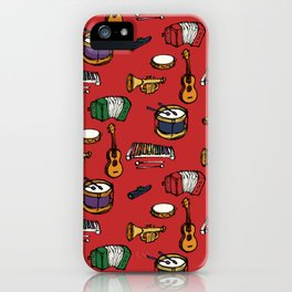 Toy Instruments on Red iPhone Case