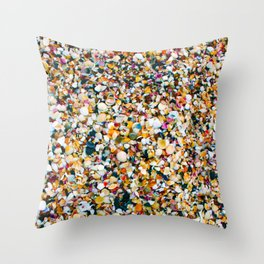 Crushed Sea Shells Throw Pillow
